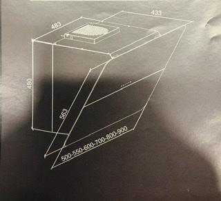Máy hút mùi áp tường AM 335 ( Dòng sản phẩm Phoenix - Italy )